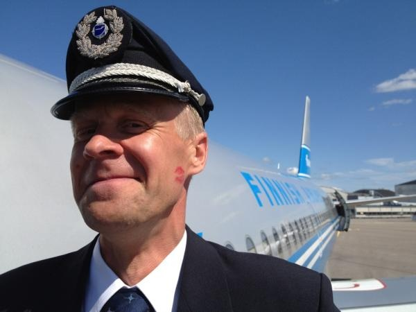 Vesku, the Finnair retro plane Silver Bird pilot.