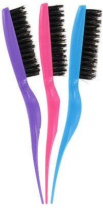 If you backcomb your hair, go to Sallys and get you one of these. Awesome teasing brushes. And they are 3 bucks!  :)