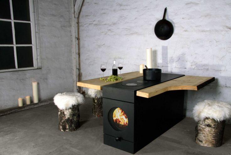 Integrierter Ofen mit Kochstelle
