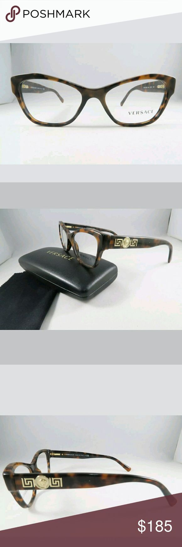 Versace Eyeglasses New and authentic  Versace Eyeglasses  Brown frame  53-16-140 Includes original case Versace  Accessories Glasses