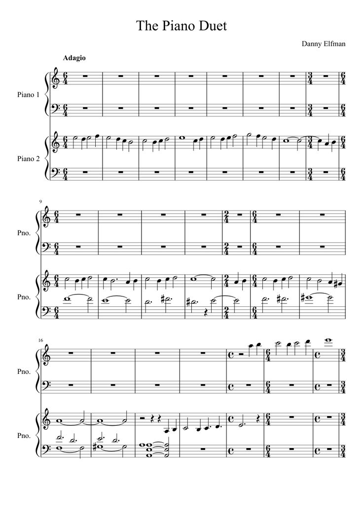 The Corpse Bride Piano Duet | MuseScore