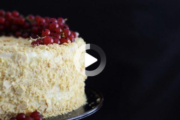 Napoleon Torte Aus Der Russischen Kuche In 2020 Napoleon Torte Napoleonkuchen Torten Rezepte