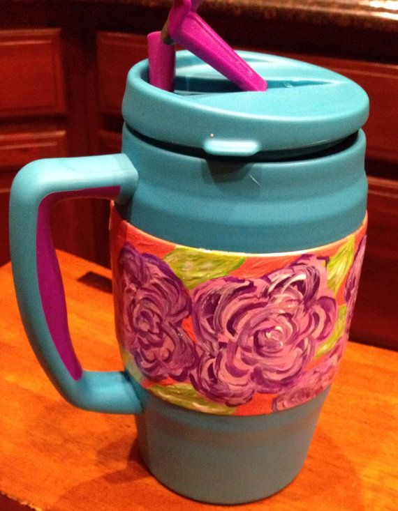 Hand painted 34 ounce Bubba thermos mug. on Etsy, $20.00