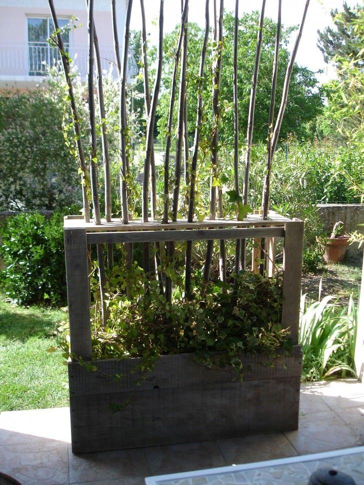 Good Paravent V g tal En Bois De Palettes Upcycled Wooden Pallet Vegetal Fence