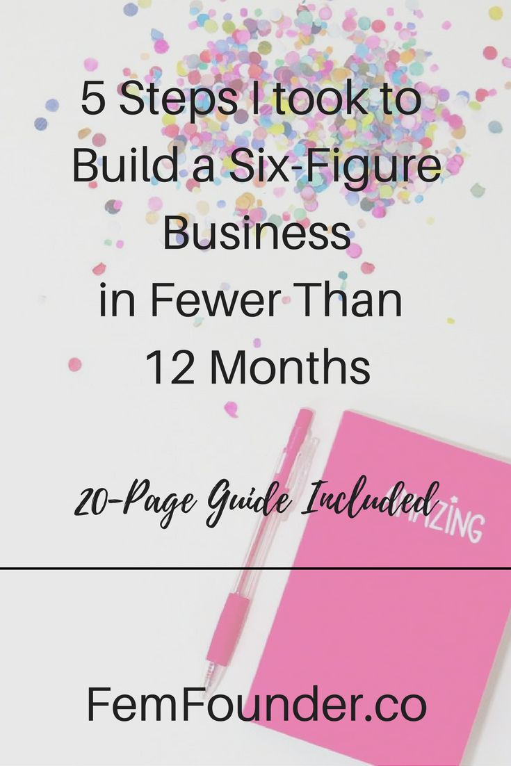 Creative entrepreneurs and small business owners, it took me a little less than a year to build a six-figure business. With this five-step framework you should be able to do the same. Click through to learn how now!