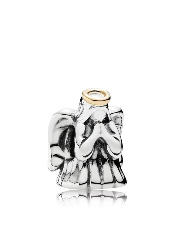 Pandora Charm - 14k Gold & Sterling Silver Divine Angel, Moments Collection