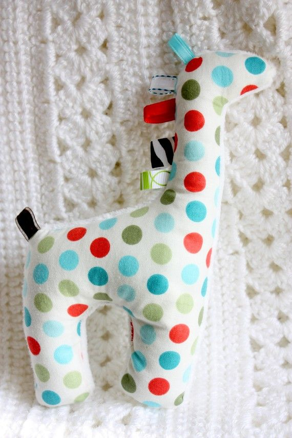 Soft, red blue and green polka dots, minky, cotton, stuffed animal baby boy toy Just picture, sold etsy item.