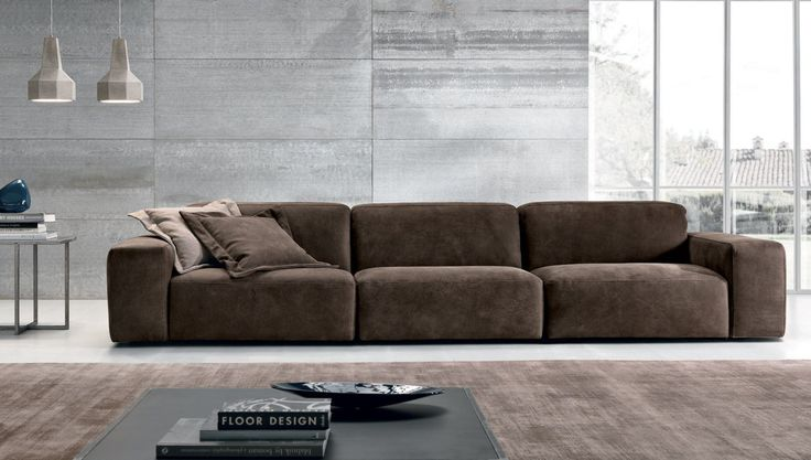 Sofá modular / moderno / de cuero / de tela BAZAR  MaxDivani