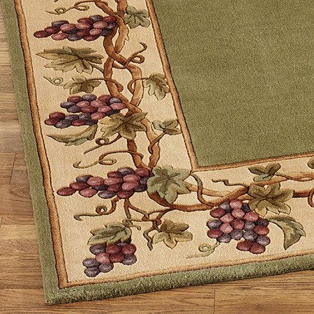 Grapes Napa Border Area Rugs Kitchen Themeskitchen Decorationswine Themed