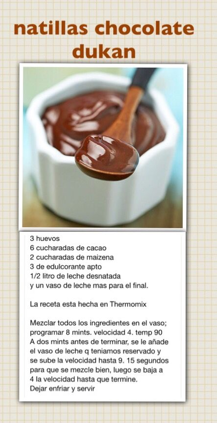 Natillas chocolate Dukan thermomix