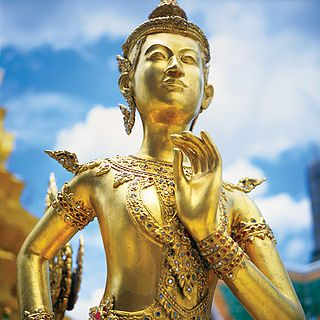 Statue of a mythical Kinnon at Wat Phra Kaew, Bangkok