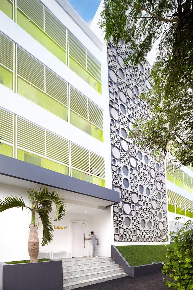 Luna2 studiotel, Bali. Architecture and facade design by Melanie Hall.