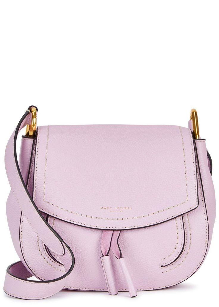 Maverick lilac leather shoulder bag