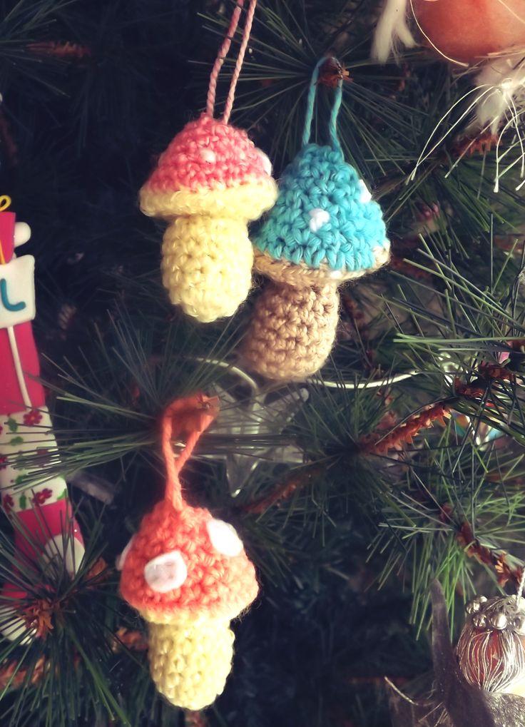 hongos decorativos / crochet simple y rápido.