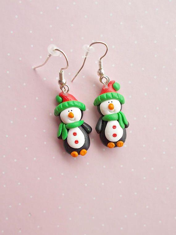Christmas Earrings Christmas Gift Ideas Penguin Earrings