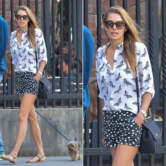 Jessica Hart's Print Mixing Is Like a Make-the-Most-of-Summer PSA