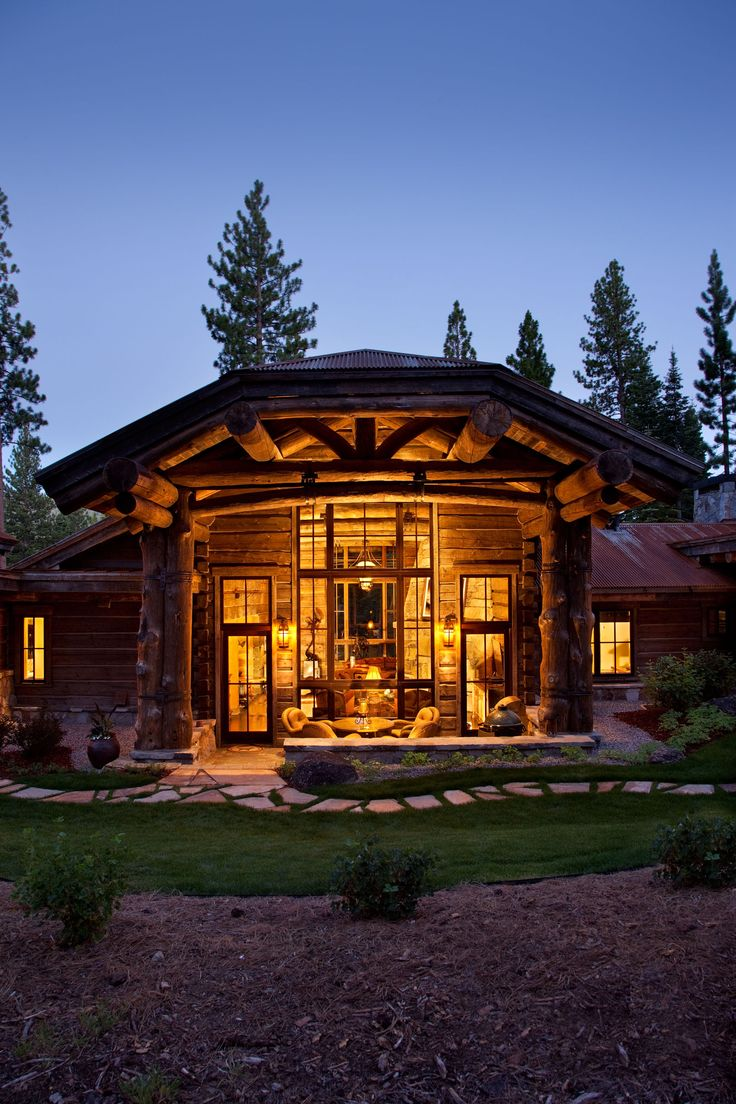 Authentic and timeless dove-tail log construction in Lake Tahoe's Martis Camp by NSM Construction.  Weathered and reclaimed lumber and timbers inside and out for the generational rustic retreat in the mountains.
