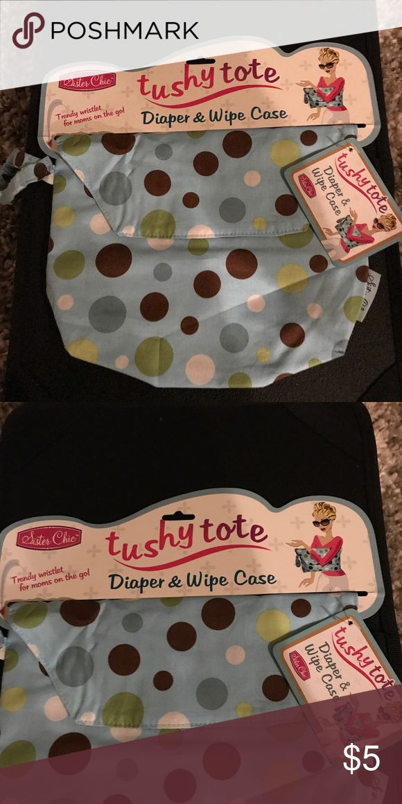 Absolutely adorable diaper wipe case. Brand new with tags. Adorable diaper wipe case.  I have other styles to fit boys and girls.  Fast shipping!! Other