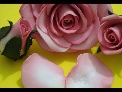Como fazer uma Rosa Gigante em EVA | Andreia Faleiros - YouTube
