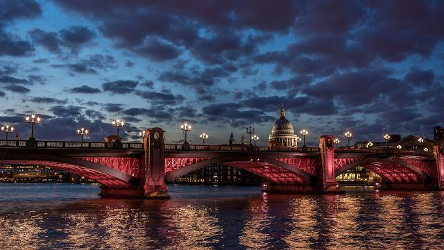 Beautifully Illuminated At Night Stone Bridge