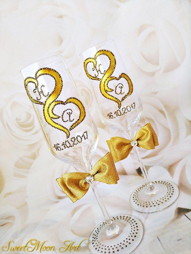 Excited to share the latest addition to my #etsy shop: Copas personalizadas, copas aniversario, copas doradas, flautas boda, bodas de oro, copas celebración, copas decoradas, regalo aniversario http://etsy.me/2zqmqFf #weddings #decoration #gold #newyears #copaspersonalizadas #cop