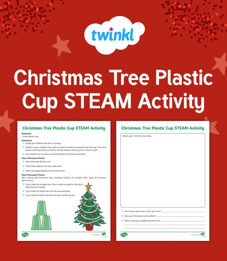 Christmas Tree Plastic Cup Steam Activity Fun Stem Activities Christmas Teaching Resources Making Predictions Activities