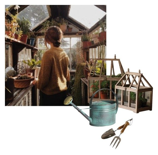 """""""greenhouse"""" by umbrella129 ❤ liked on Polyvore featuring interior, interiors, interior design, home, home decor, interior decorating, The Thoughtful Gardener, Dot & Bo and Pier 1 Imports"""