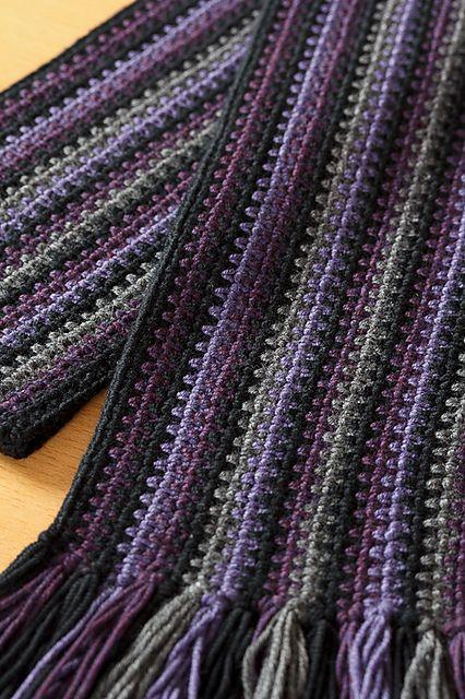 Ravelry: p.67 Men's Crochet Scarf pattern by Atsuko Takeda (武田敦子)