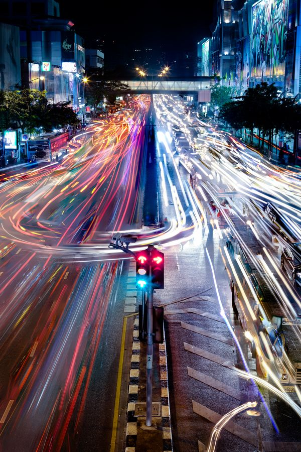 """January 6, 2013 - Bangkok Traffic by Mark Burban ... """"We felt so small with the city lights stretching forever below us, and we yelled at the top of our lungs because we were just these small humans but we felt more longing than could ever fit inside us."""" ―Nina LaCour, The Disenchantments"""