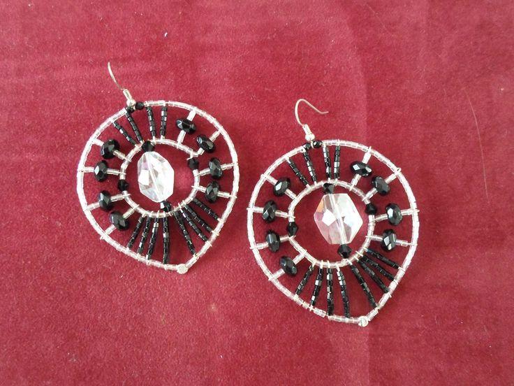 Handmade Czech crystals and bead Earrings