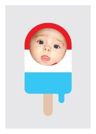 Nothing says 4th of July party like a cool popsicle and a cute, smiling kid. This invitation will have both once you customize it with your little one.