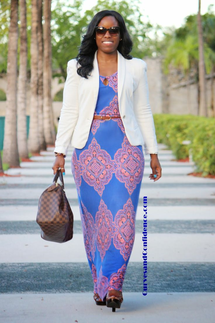 Curves and Confidence | Inspiring Curvy Women One Outfit At A Time: Make it Werk: Maxi Dress