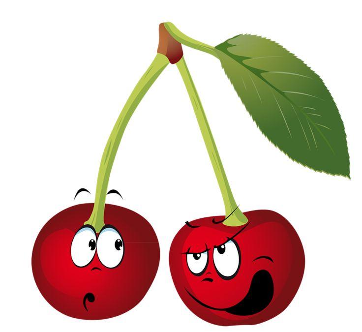 Картинки, рисунки веселые фрукты ягоды овощи