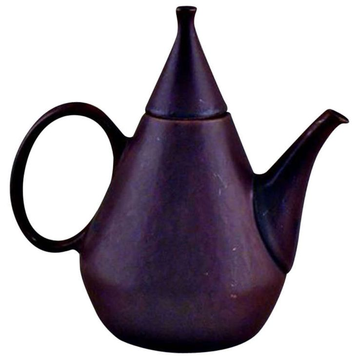 Rorstrand Teapot in Ceramic by Carl Harry Staalhane | From a unique collection of antique and modern ceramics at http://www.1stdibs.com/furniture/dining-entertaining/ceramics/