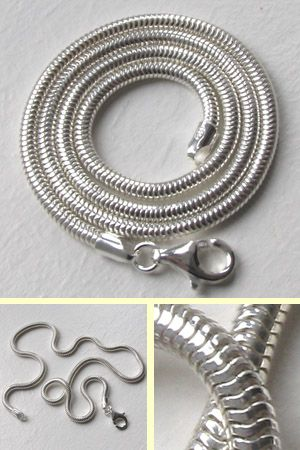 Sterling Silver 3mm Snake Chain