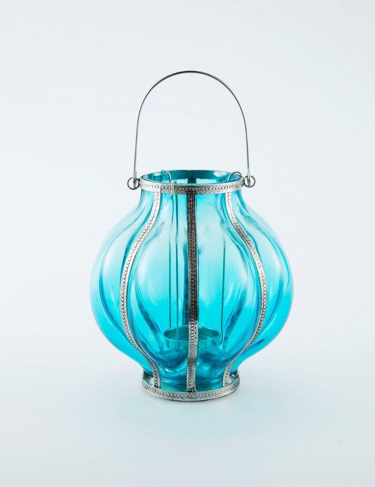 ASHA ljuslykta turkos | Lanterns | Ljus & lyktor | Inredning | INDISKA Shop Online
