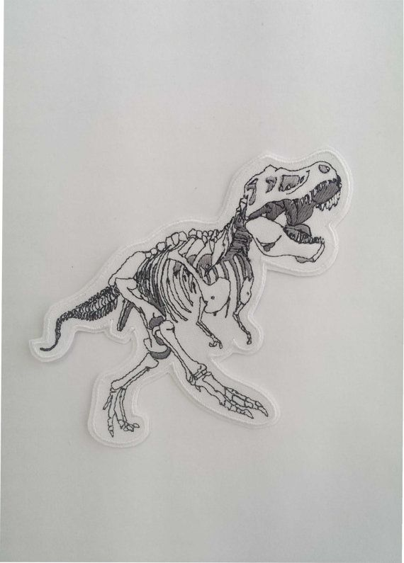 T-Rex Skeleton Embroidery Patch