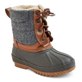 Toddler Boys' Hans Bungee Pull Winter Boots Cat & Jack™ - Grey : Target