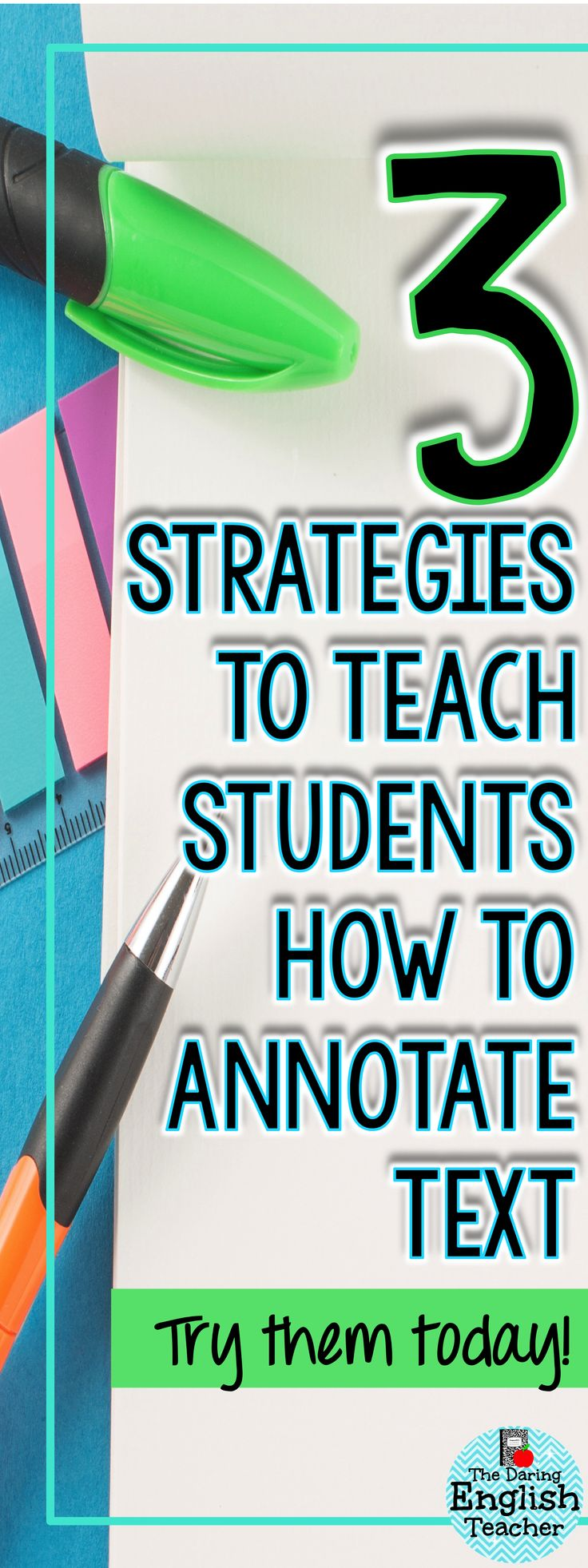Three strategies to implement in your classroom when teaching students how to annotate text. Ideal for middle school and high school students, these strategies will help build confidence.
