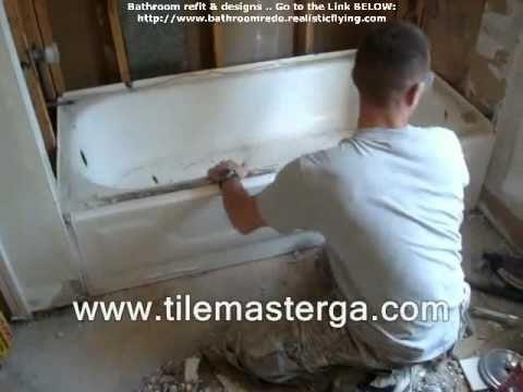 How to remove, replace a bathtub - plumbing, drain, bathroom installation, bath tub atlanta