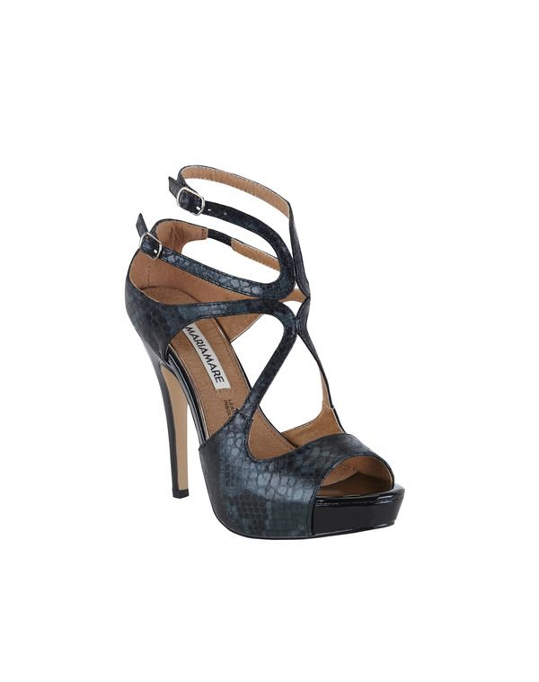 Chaussures Noires Formelles Bout Ouvert Womens Mare Maria GWKBGfpRN