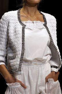 Nana crochê: Chanel crochet jacket