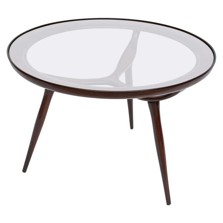 An Italian Modern Mahogany and Glass Occasional Table, Ico Parisi
