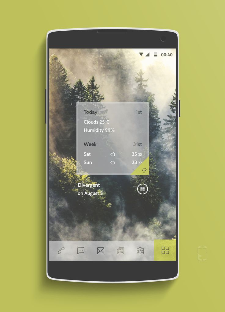 mustard mntn Android Homescreen by rabrot - MyColorscreen