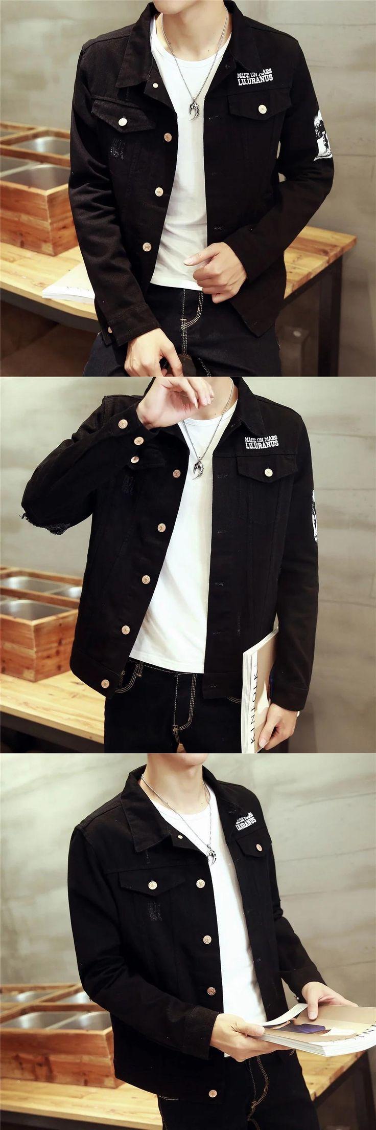 TG6318 Cheap wholesale 2017 new Han edition cultivate one's morality men's denim jacket men fall big yards coat jacket