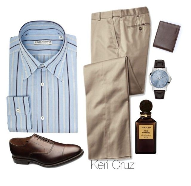 """""""Men's Fashion"""" by keri-cruz ❤ liked on Polyvore featuring Dolce&Gabbana, Tom Ford, Allen Edmonds, GUESS and Calvin Klein"""