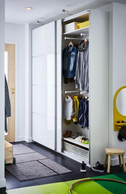 17 meilleures id es propos de armoire porte coulissante sur pinterest por - Armoire avec porte coulissante ...