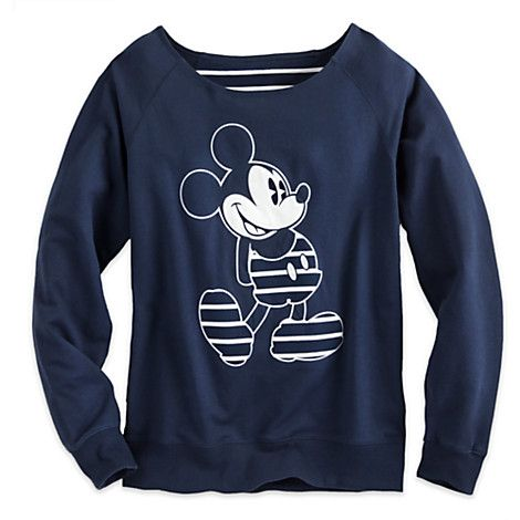 Mickey Mouse Nautical Stripe Long Sleeve Pullover for Women | Disney Store