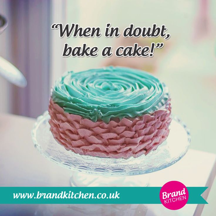 """When in doubt bake a cake!"" #business #love #passion #entrepreneur #brand #cake #cupcake #kitchen #break...P.S. Treat yourself to a weekly cakebreak with FREE business, branding, marketing (and more!) tips at my website."