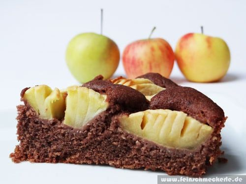 Apfel Schoko Nuss Kuchen